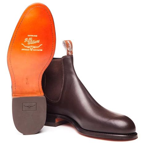 leather sole boots rm williams classic turnout boots leather sole chestnut