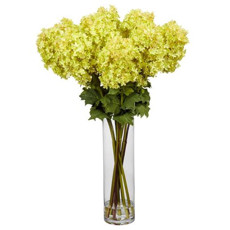 silk flower arrangements nearly natural 45 in h yellow forsythia with vase silk