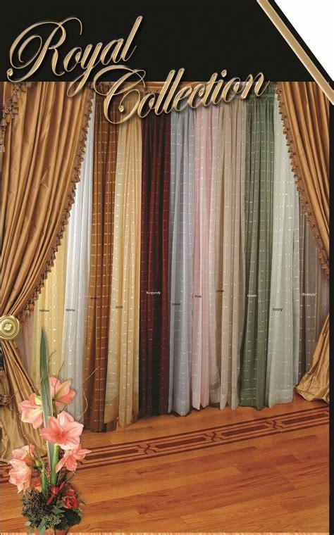 royal window coverings royal plaid sheer panel ebay