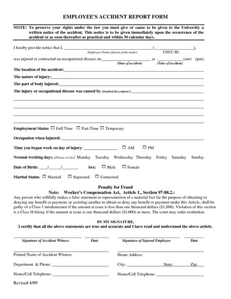 best photos of employee accident report form employee