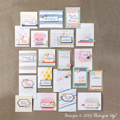 card kit for stin up watercolor wishes card kit now available
