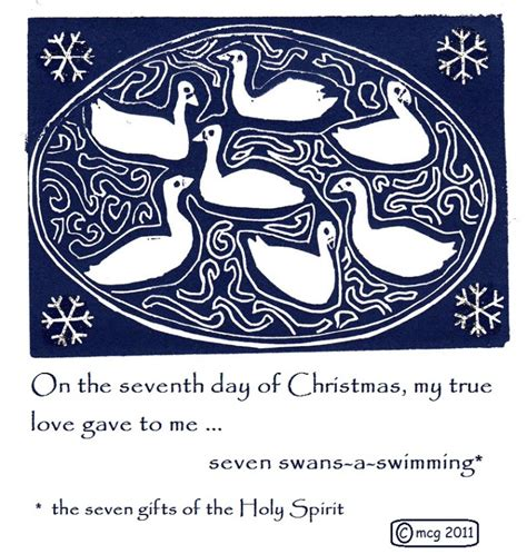 twelve days of christmas on the 7th day by hand with