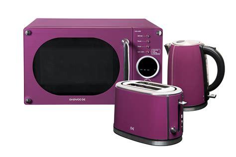 Ebay Toasters Daewoo Microwave Toaster And Kettle Package Purple Purple