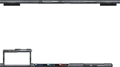 metallic stream overlay for twitch tv hitbox tv by