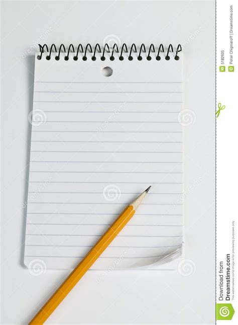 armed with a pad of paper and pencil she began to survey her neighbors pencil on a pad of paper royalty free stock photo image