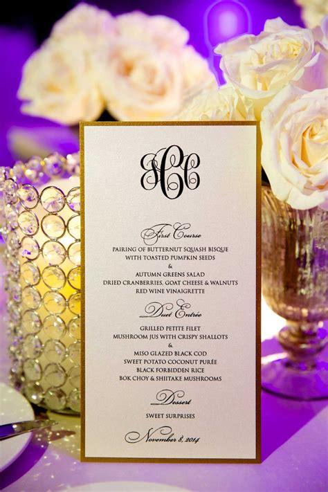 Black And White Wedding Menu Cards