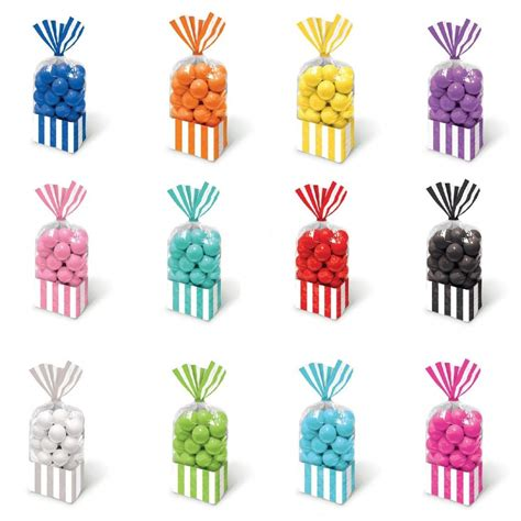 treat bags for buffet all colours buffet sweet stripe cello cellophane