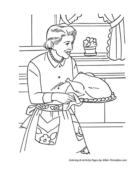 family dinner coloring pages coloring pages
