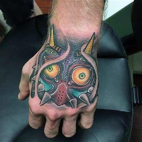 tattoo hand mask 50 majora s mask tattoo designs for men the legend of