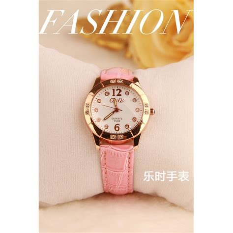 Jam Tangan Cewek Rubber Pink korean fashion watches 178 007 pink jakartanotebook