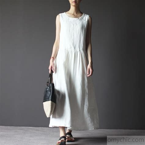white linen sundress vintage linen summer dresses
