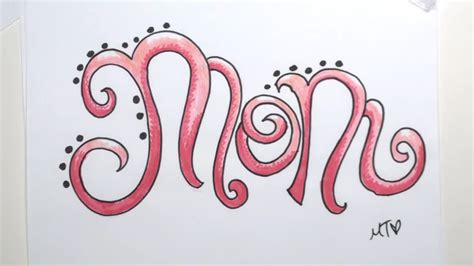 drawing mom  flowing letters curiouscom