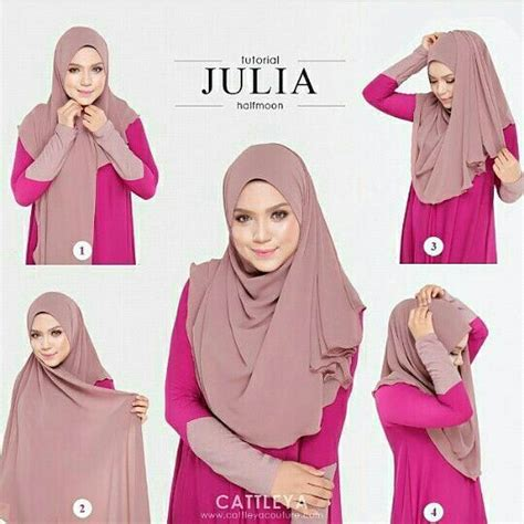 tutorial halfmoon qaira hijab simple halfmoon tutorial h i j a b pinterest simple