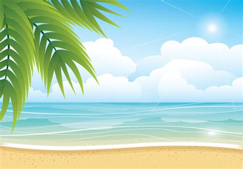Tropical Summer Beach Vector Background Hq Free Download Summer Powerpoint Background