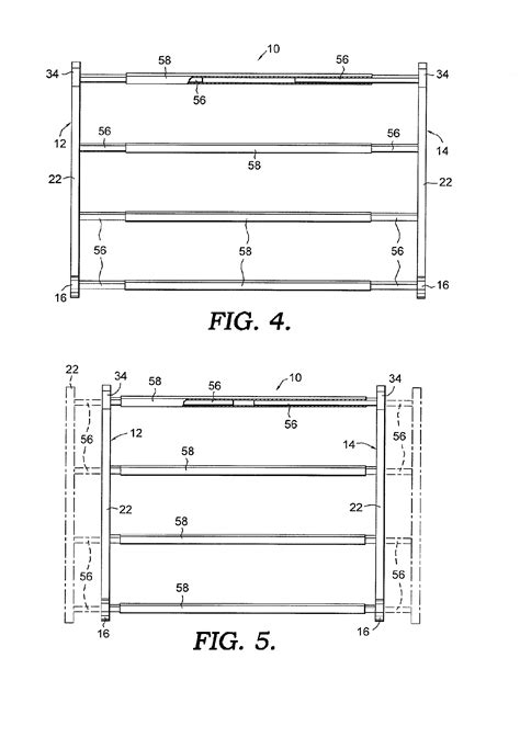 shoe storage dimensions patent us7249679 expansible shoe rack patenten