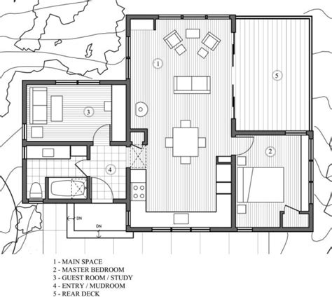 modern cottage floor plans 840 sq ft modern and rustic small cabin in the redwoods
