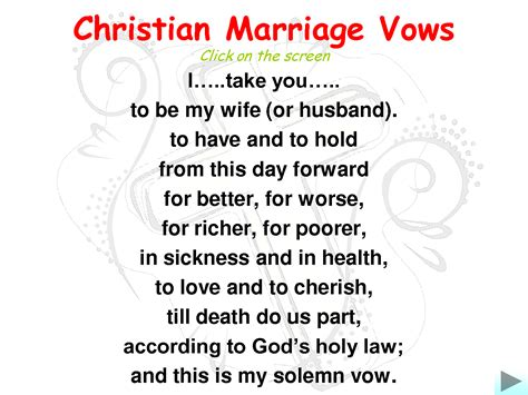 Wedding Vows Verses by Marriage Wedding Vows Christian Marriage Vows I
