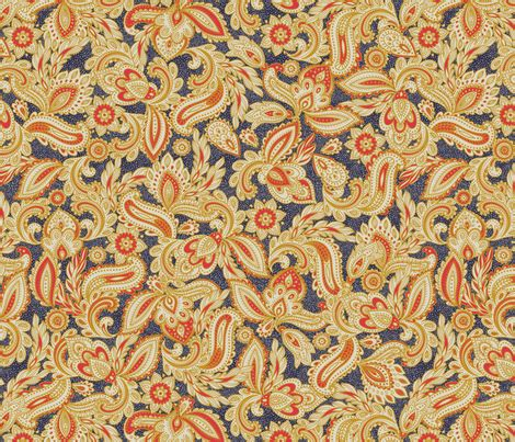paisley pattern in french french paisley navy fabric meganpalmer spoonflower