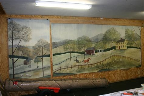 american wall murals 17 best images about rufus porter murals and rugs on the secret front hallway and