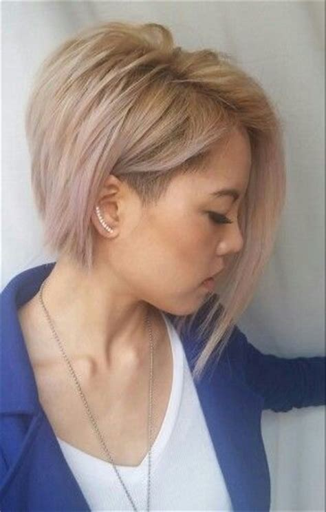 side shaved bob cut 2 subtle lilac pastel toned blonde asymmetrical bob