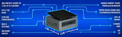 Intel Nuc Apollo Lake Ram 8gb 240gb Ssd Nuc6cayh 8s240 Win10 Pro intel nuc kit component boxnuc6cayh