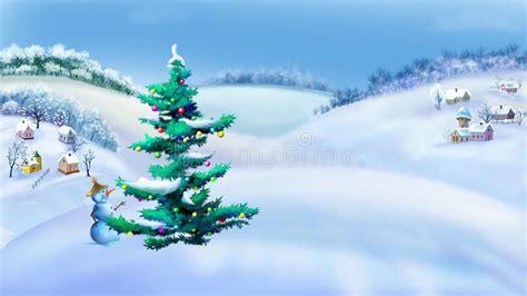 apreciamos un rbol de navidad hecho de nieve en su inferior con paisaje rural con el 225 rbol de navidad y el mu 241 eco de nieve