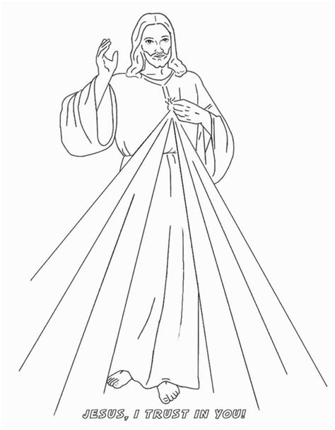divine mercy coloring page family holidaynetguide