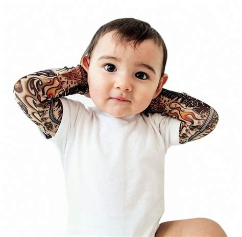 baby boy tattoos infant sleeve white onesie my baby will definitely