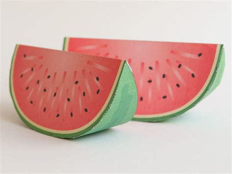 Watermelon Paper Craft - papercraft for simple watermelon free template