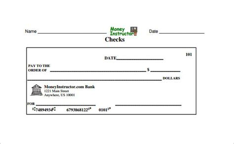 bank check template cheque template word autos post
