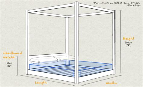 Low Four Poster Bed Lower Bed Frame Height