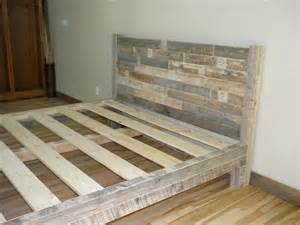 Pallet Bed Frame Diy King How To Make A Platform Bed Frame With Pallets