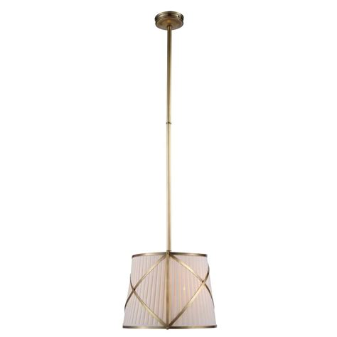 lighting fairmount 2 light burnished brass pendant