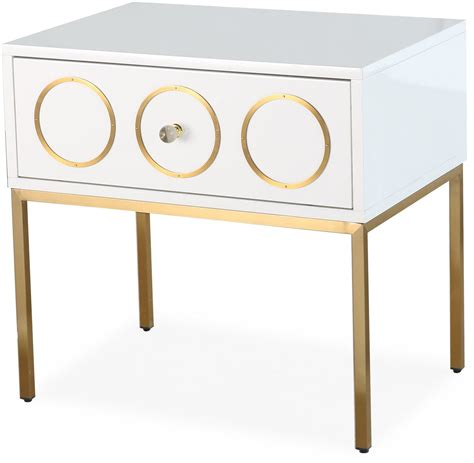 White And Gold Nightstand Ella White And Gold Nightstand G5493 Tov Furniture