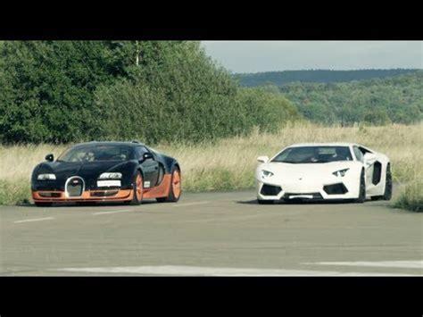 lamborghini aventador sv roadster vs bugatti veyron ultra hd 4k 308 km h race lamborghini aventador vs bugatti veyron vitesse presented by samsung