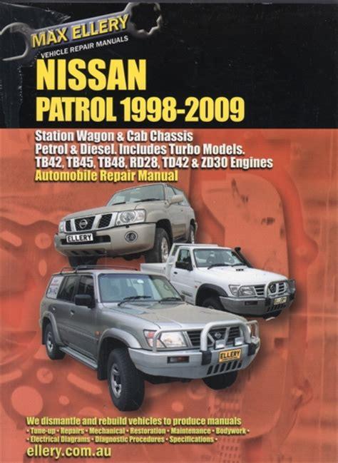 nissan patrol gu petrol and diesel 1998 2009 ellery repair