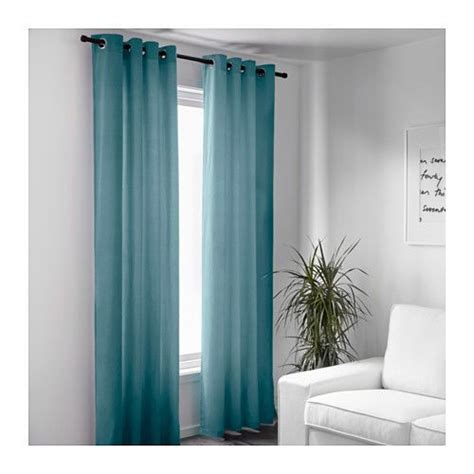 samt vorhang gardinenband ikea sanela gardinen turkis 2x 140x300 cm schlafzimmer