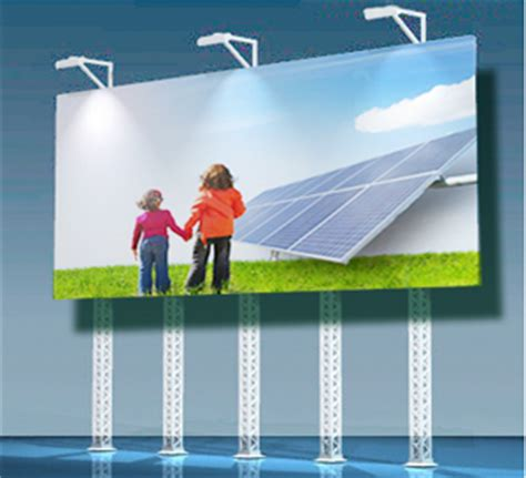 solar billboard lights no electricity needed with solar powered led billboards