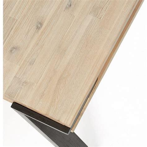 estro illuminazione estro 160 o 200 tavolo fisso massello di acacia naturale