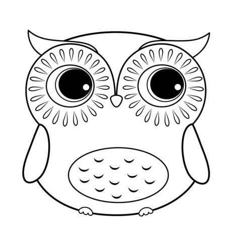 owl eyes coloring pages coloriage chouette de bande dessin 233 e coloriages 224