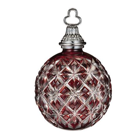 Waterford Ornaments - waterford cased emerald ornament silver
