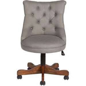 home office desk chair home decorators collection grey linen office chair