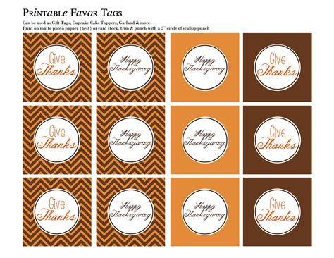 printable thanksgiving tags thanksgiving placemat table tents and favor tags free