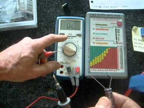 how to check tv capacitor with multimeter low cost esr meter review funnycat tv