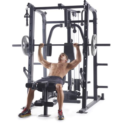 weider pro 8500 smith cage strength trainer by icon health