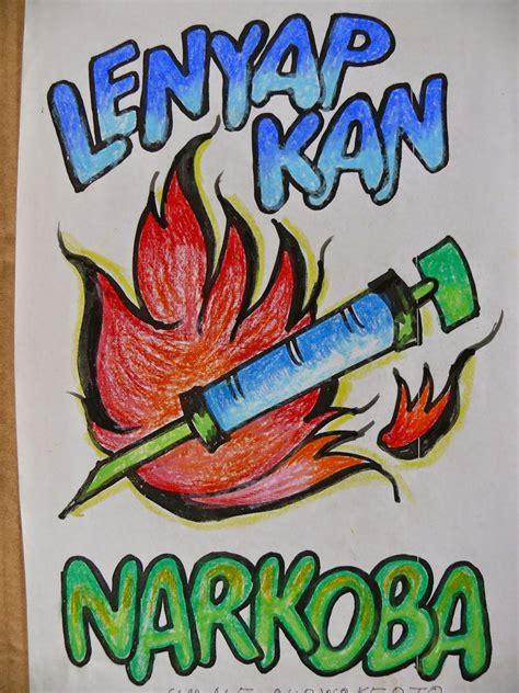 contoh gambar poster dan slogan tentang narkoba