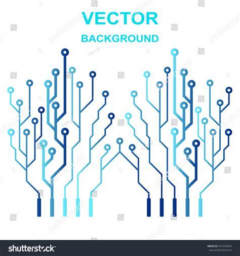 pcb layout logo vector icon logo printed circuit board stock vector