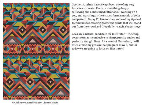 tutorial textile design from the textile design lab complex geometrics design