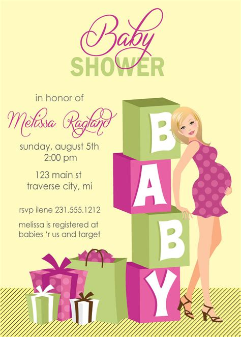 Blocks Baby Shower Invitations Digital File Girl Baby Shower Invites Available In African Digital Baby Shower Invitations Templates