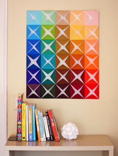 Make Folded Paper - make easy diy wall from folded paper how about orange